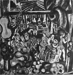 Т.Нариманбеков. Весенний базар. 1974 Холст, темпера