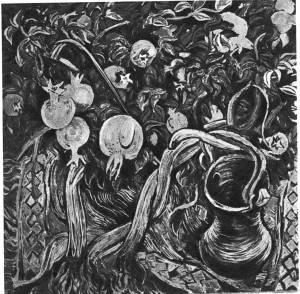Т. Нариманбеков. В садах Геокчая. 1966 Холст, темпера
