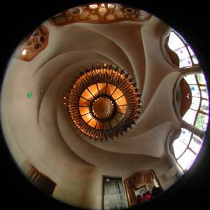 Потолок дома Больо в Барселоне по проекту Антонио Гауди