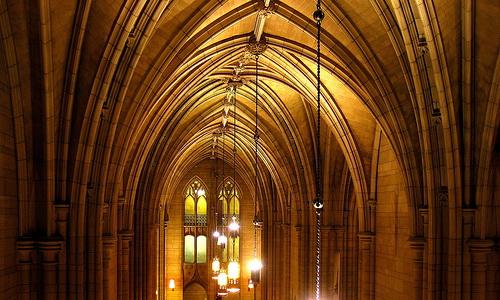 Потолок собора Знаний в Питтсбурге, США