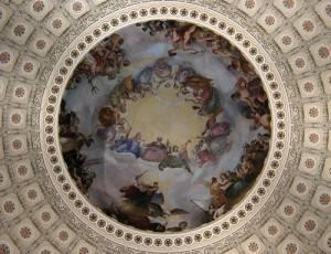 Фреска Апофеоз Вашингтона в Национальном зале штатов Капитолия, Вашингтон (фото 8)