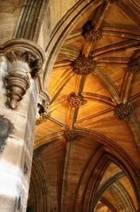 Потолок кафедрального собора Глазго