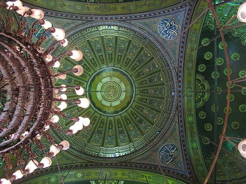 Потолок мечети Али Мухаммеда в Каире