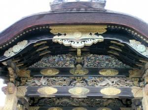 Декор потолка японской беседки