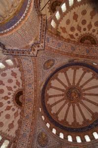 Потолок Голубой мечети в Стамбуле (фото 3)