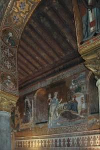 Резной потолок Палатинской капеллы Норманнского дворца