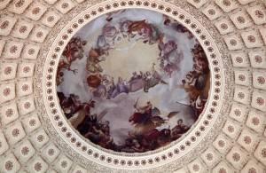 Фреска Апофеоз Вашингтона в Национальном зале штатов Капитолия, Вашингтон (фото 7)