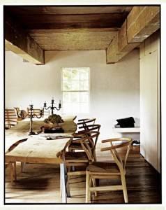 Деревянный потолок — фото 103
