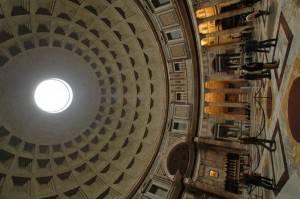 Кирпично-бетонная ротонда Пантеона с кессонированным куполом (фото 3)