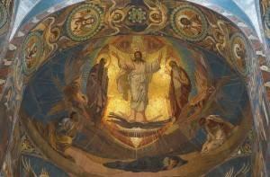 Потолок храма Спаса на Крови в Санкт-Петербурге