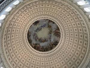 Фреска Апофеоз Вашингтона в Национальном зале штатов Капитолия, Вашингтон (фото 6)