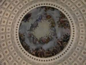 Фреска Апофеоз Вашингтона в Национальном зале штатов Капитолия, Вашингтон (фото 5)