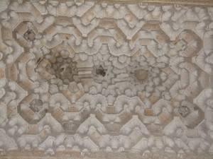Потолок зала Абенсераги в замке Альгамбра в Гранаде