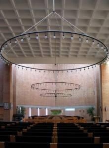 Кессонированный потолок церкви в Вангеде