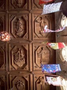 Средневековый деревянный потолок