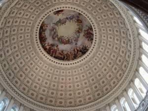 Фреска Апофеоз Вашингтона в Национальном зале штатов Капитолия, Вашингтон