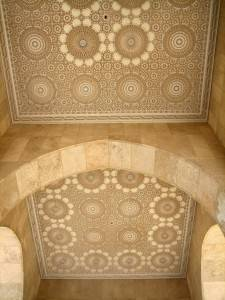 Потолок мечети Хассана II в Касабланке