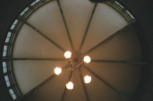 Потолок в виде купола из металла