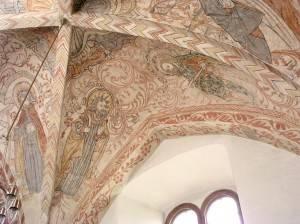 Роспись потолка в церкви города Остра в Швеции (фото 2)
