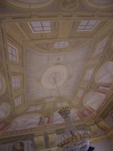 Фреска на стене с нарисованным дополнительным пространством (часть 2)