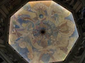 Фреска на потолке в обсерватории Гриффита