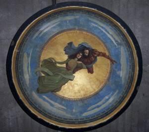 Роспись на потолке — рыцарь и принцесса