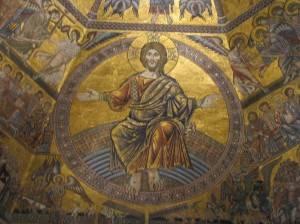 Фрагмент мозаичного потолка Флорентийского Баптистерия