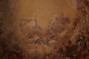 Фреска с библейским сюжетом на потолке (фрагмент)