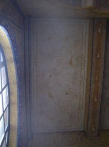 Старинный мозаичный потолок и стены