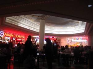 Роспись двухуровневого потолка в баре