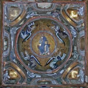 Тромпы с мозаикой в основании купола Мартораны
