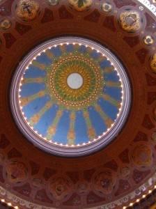 Фото росписи купола в мечети