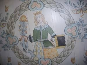 Нарисованная на потолке королева
