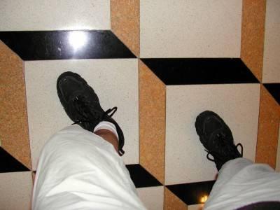 Пол из керамической плитки — фото 31