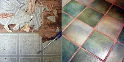Пол из керамической плитки — фото 7