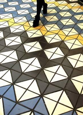 Пол из керамической плитки — фото 77