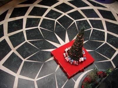 Пол из керамической плитки — фото 46