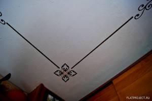 Роспись потолка по трафарету