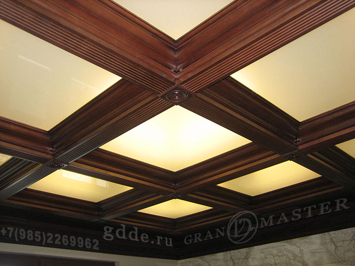 Деревянный потолок — фото 150