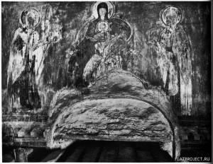 Богоматерь на Троне и Архиепископы Моисей и Алексий