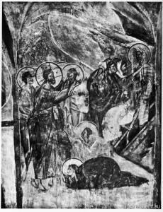Фреска Воскрешение Лазаря