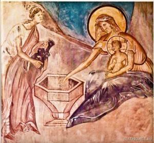Омовение Младенца из Сцены «Рождество Христово»