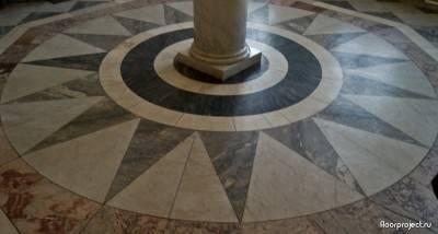 Пол из керамической плитки — фото 26
