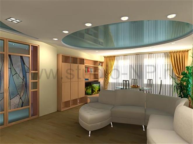 Комбинированный натяжной потолок  от «ГЕЛИОС РА»