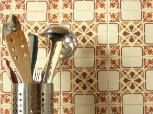 Кафельная стена на кухне