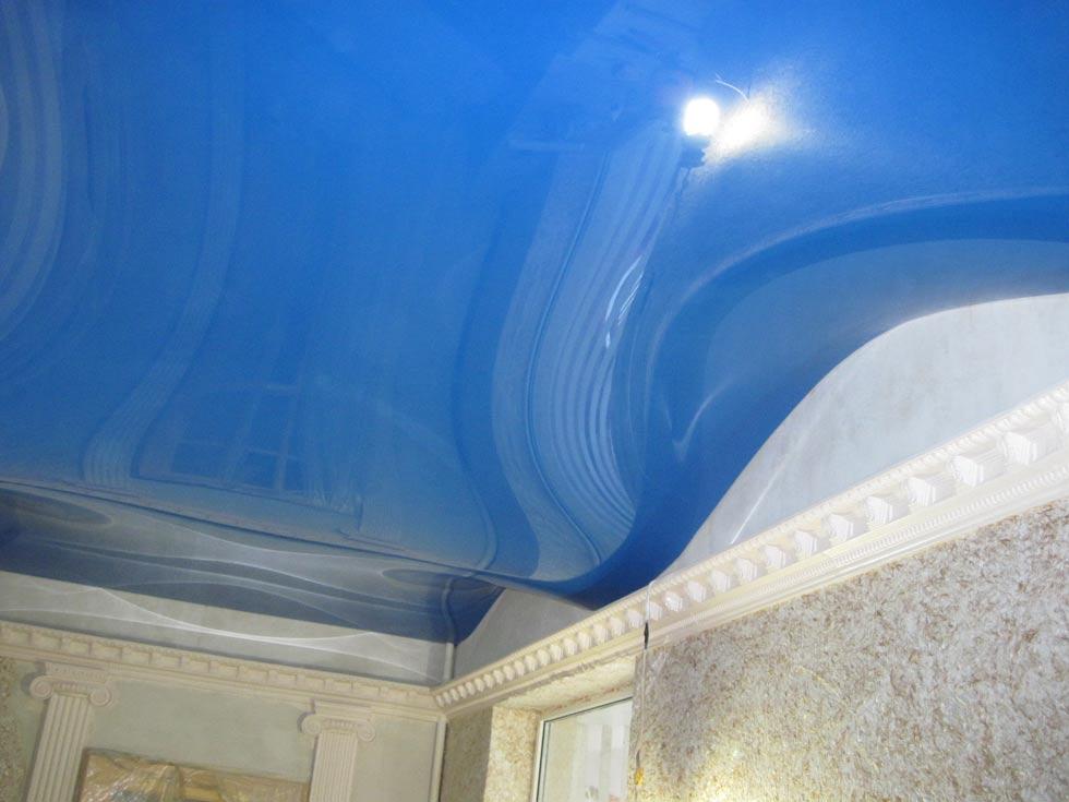 Как сделать из натяжного потолка волны