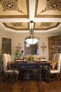 Роспись потолка в столовой
