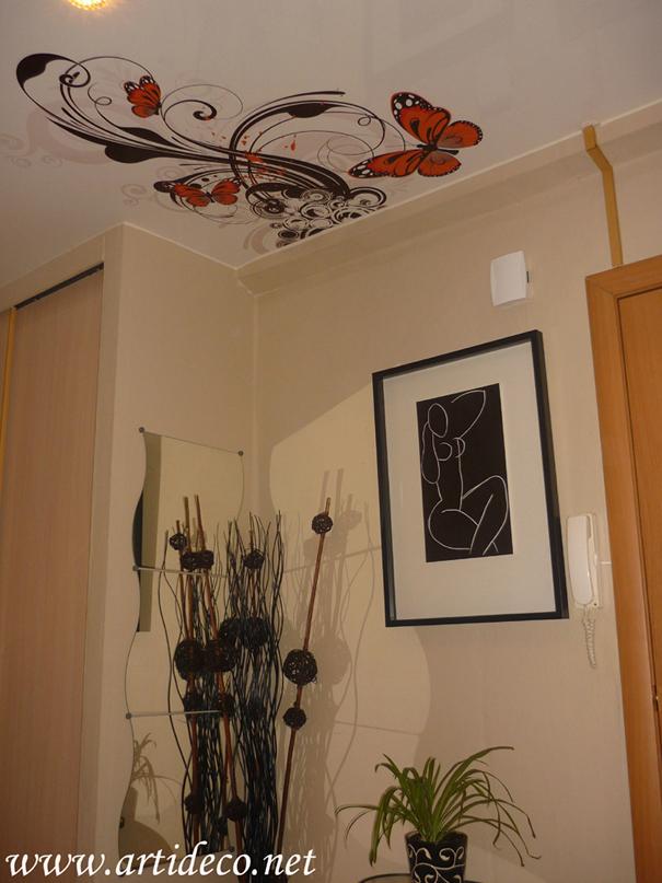 Фотопечатью цветы и бабочки источник