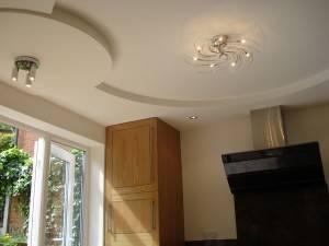 Подшивной фигурный потолок