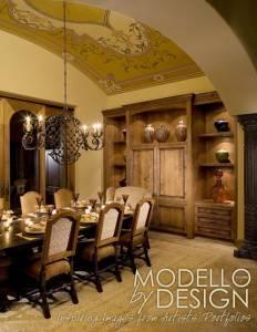 Потолок в столовой в готическом стиле